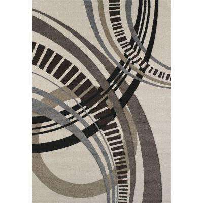 Sensation Cream 5 ft. 3 in. x 7 ft. 6 in. Area Rug