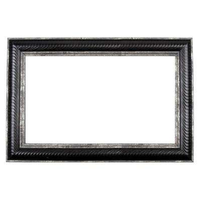 Del Mar 72 in. x 42 in. Mirror Frame Kit in Black and Silver - Mirror Not Included