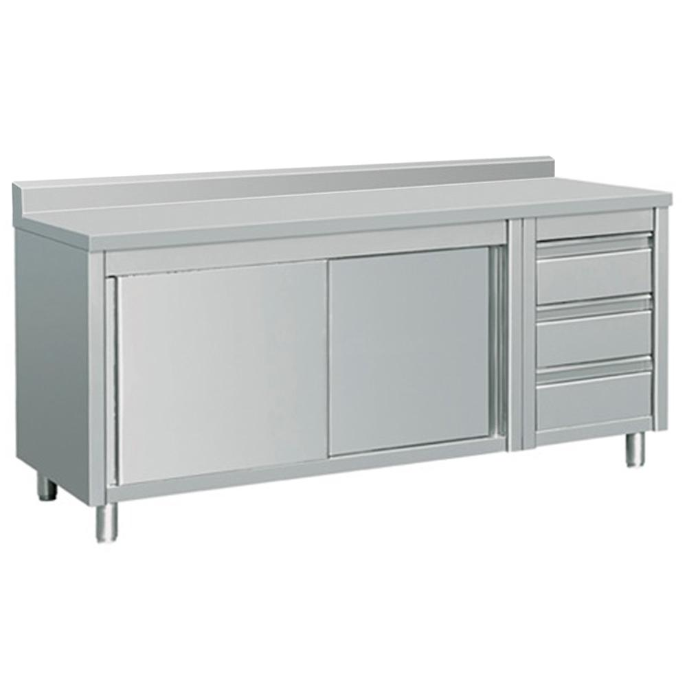 Kitchen Table Drawers: EQ Kitchen Line 80 In. X 28 In. X 38 In. Stainless Steel