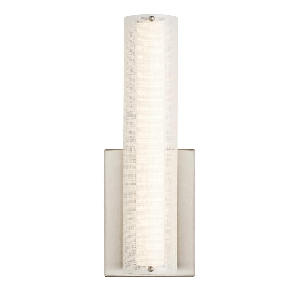 Jarvas Wall 13-Watt Satin Nickel Integrated LED Sconce