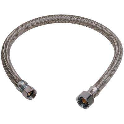 7/16 in. Compression x 1/2 in. FIP x 20 in. Braided Polymer Faucet Connector
