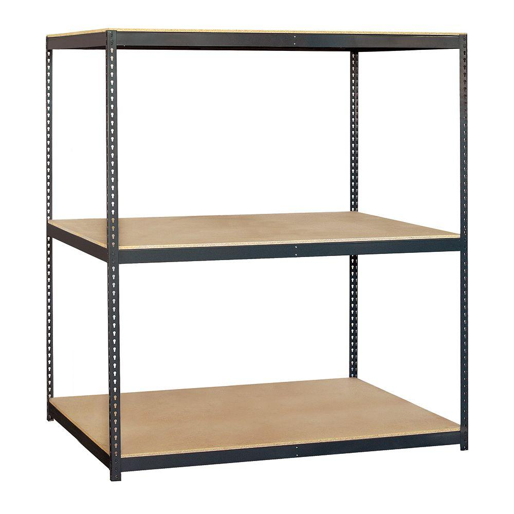 Salsbury Industries 9700 Series 72 in. W x 84 in. H x 36 in. D Heavy Duty Steel Frame and Particleboard Solid Shelving