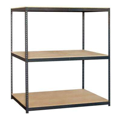 9700 Series 72 in. W x 84 in. H x 36 in. D Heavy Duty Steel Frame and Particleboard Solid Shelving