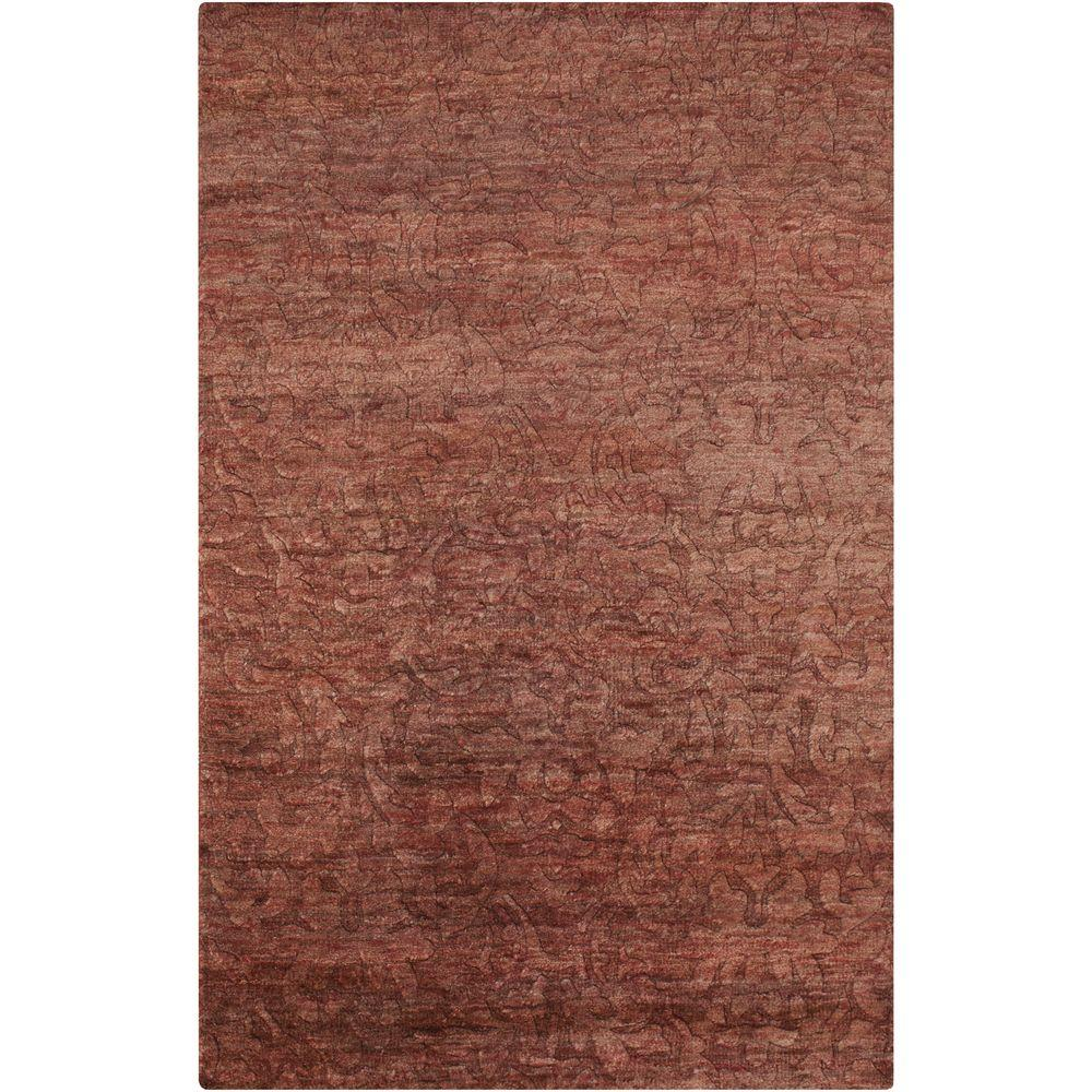 Carmelo Burgundy 8 ft. x 11 ft. Indoor Area Rug