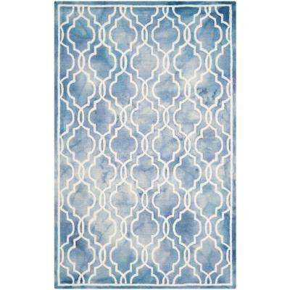 Dip Dye Blue/Ivory 6 ft. x 9 ft. Area Rug