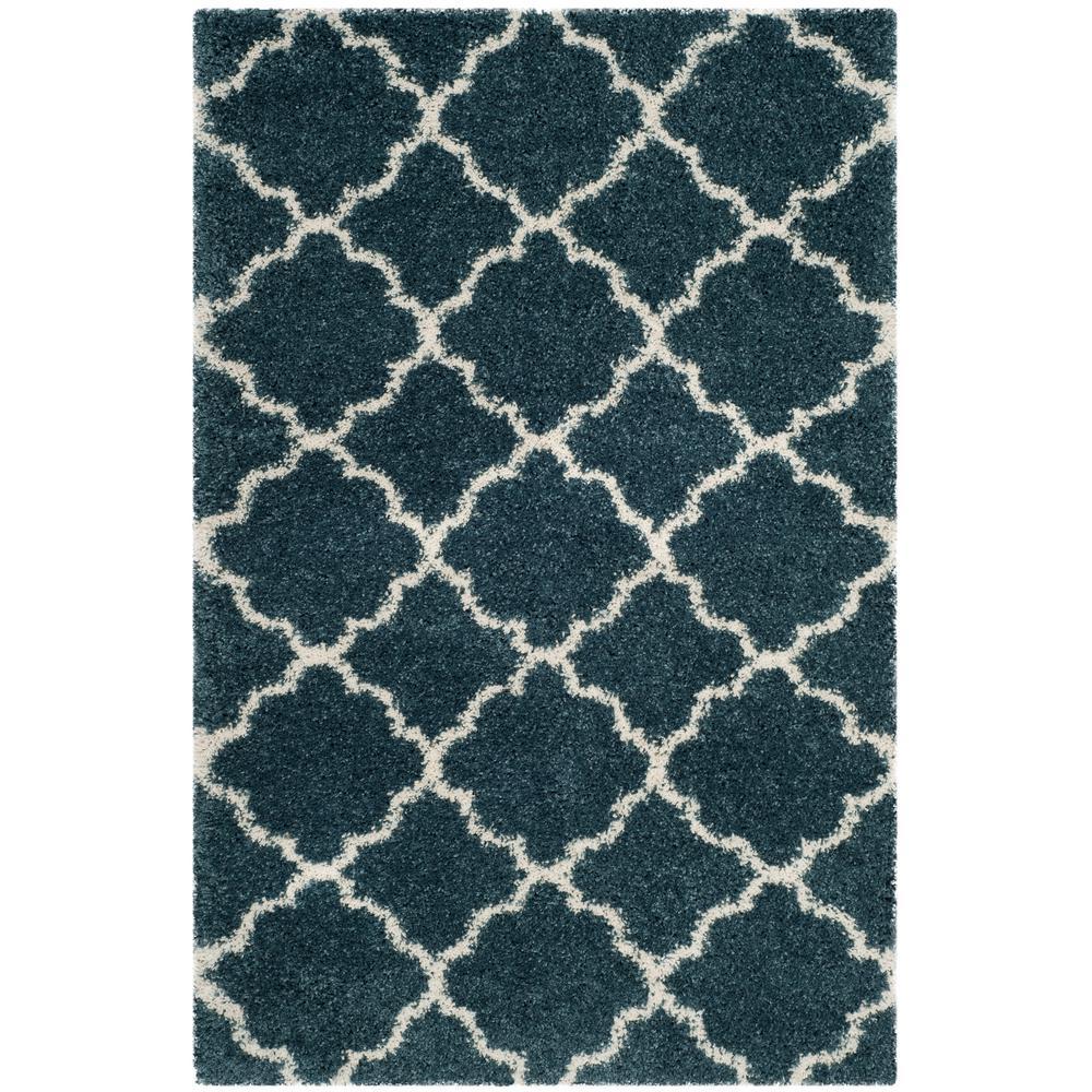 safavieh hudson shag slate blue/ivory 4 ft. x 6 ft. area rug
