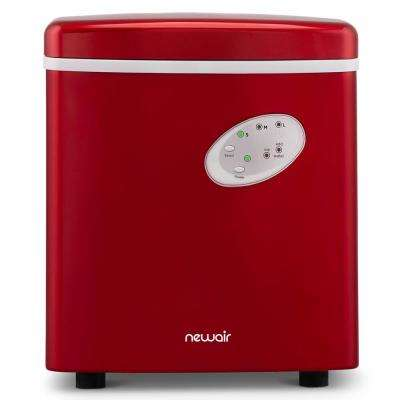 Portable 28 lb. of Ice a Day Countertop Ice Maker BPA Free Parts with 3 Ice Size and Ice Scoop - Red