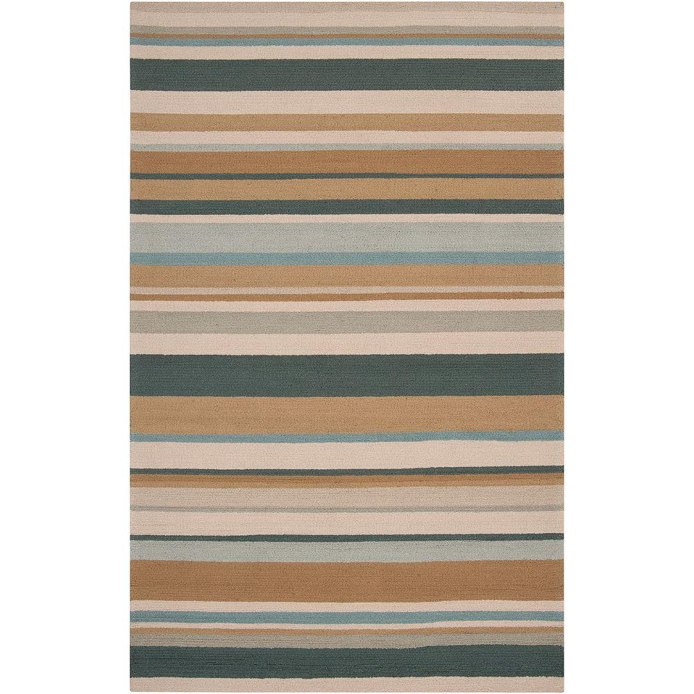 Plantain Parchment 2 ft. x 3 ft. Indoor/Outdoor Accent Rug