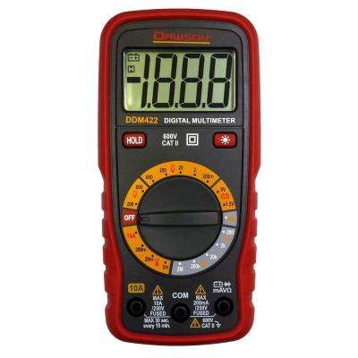 Compact Digital Multimeter with LCD Display Backlight