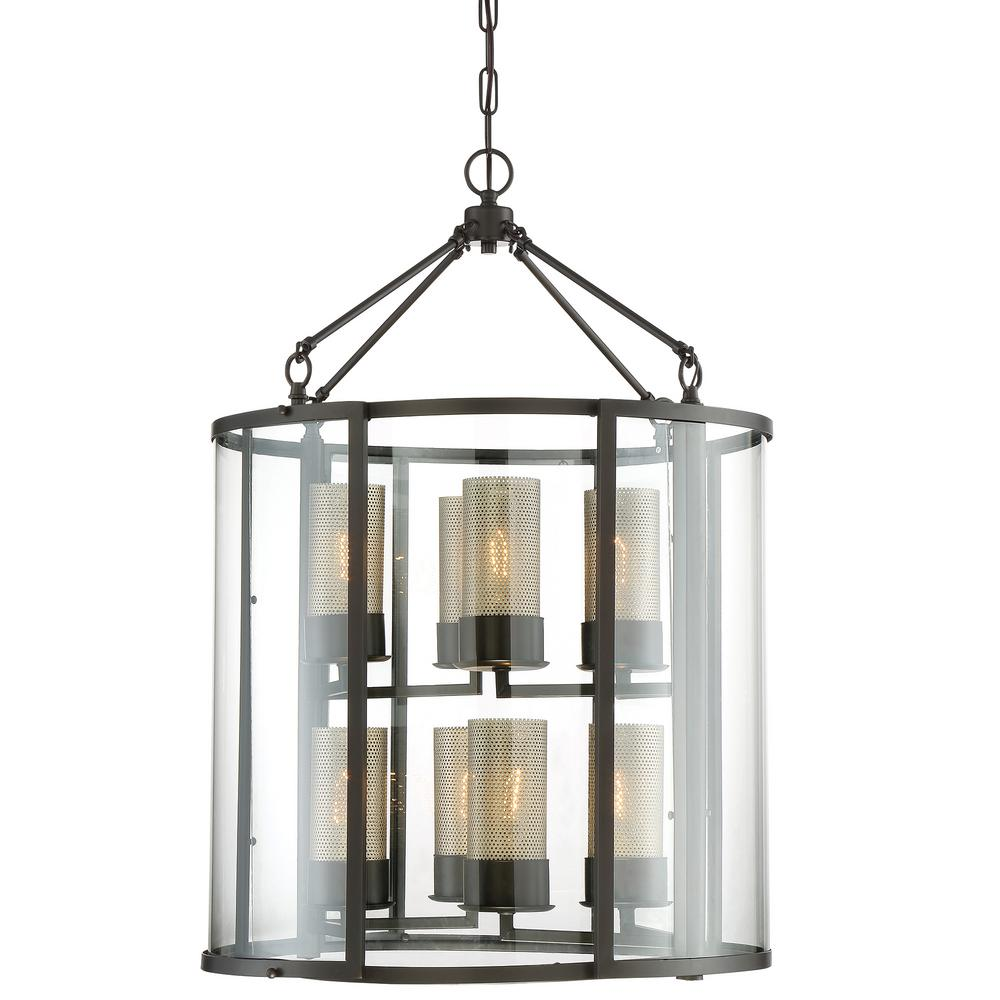 Lodge Foyer Lighting : Varaluz jackson light rustic bronze foyer pendant