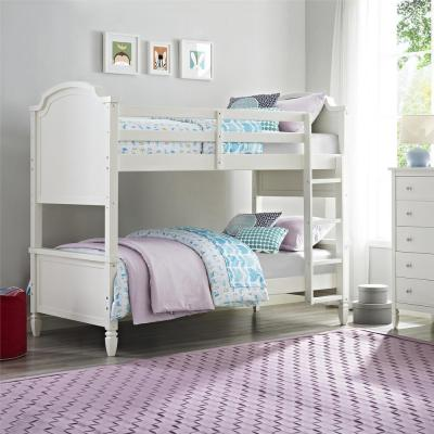 Vivienne White Twin over Twin Bunk Bed