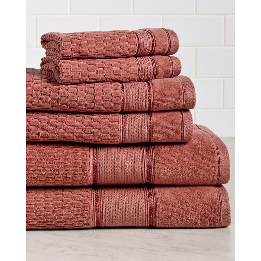 Royale 6-Piece 100% Turkish Cotton Bath Towel Set in Ginger