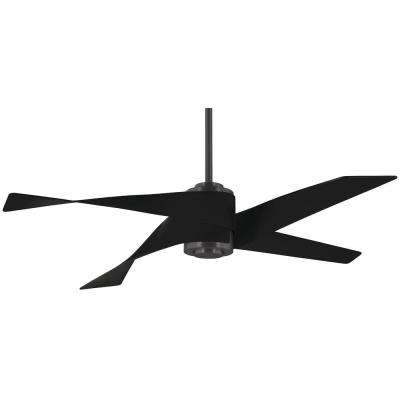 Artemis IV 64 in. Integrated LED Indoor Gun Metal and Matt Black Ceiling Fan with Light with Remote Control