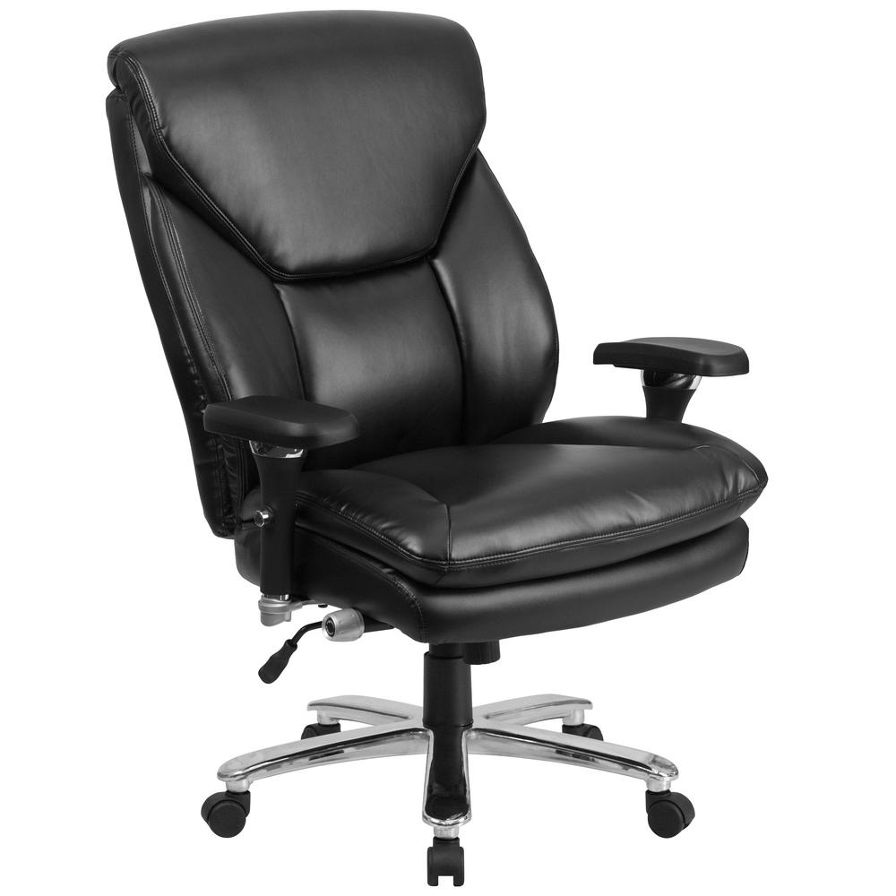 Carnegy Avenue Black Leather Metal Office/Desk Chair