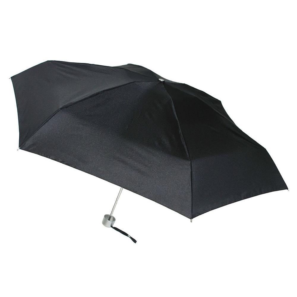 40 in. Arc Ultra Mini Manual Umbrella in Black