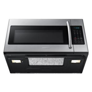 11 Samsung 30 In W 1 8 Cu Ft Over The Range Microwave Stainless
