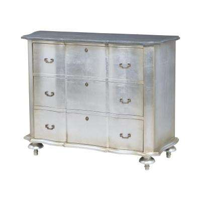 Duchess 3-Drawer Antique Silver Chest