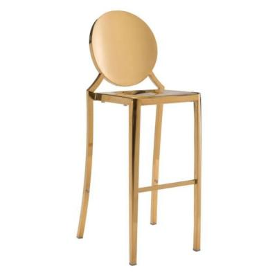 Julia 2 Pieces Gold Polished Stainless Steel Bar Chair