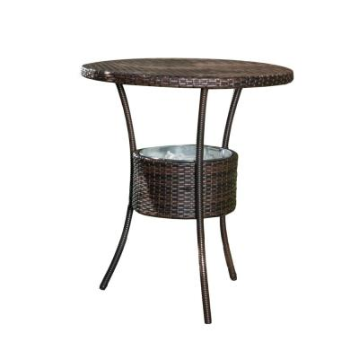 Oyster Bay Multi-brown Wicker Outdoor Accent Table
