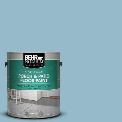 1 gal. #S480-3 Sydney Harbour Gloss Interior/Exterior Porch and Patio Floor Paint
