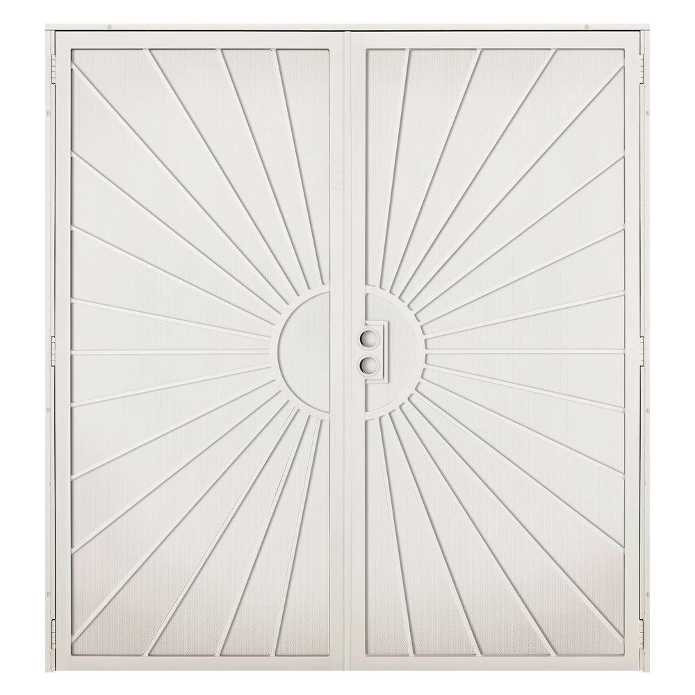 Unique Home Designs 72 in. x 80 in. Solana Navajo White Surface ...