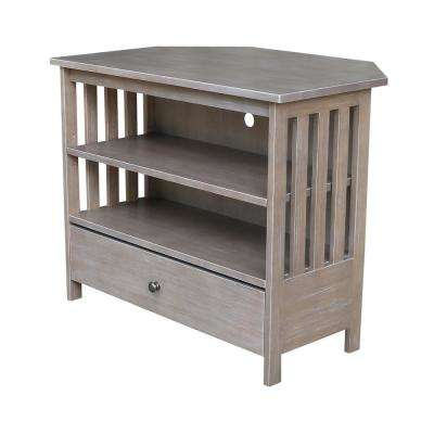 Mission Corner Taupe Gray TV Stand