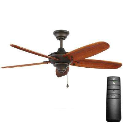 Altura 48 in. Indoor/Outdoor Oil-Rubbed Bronze Ceiling Fan with Remote Control
