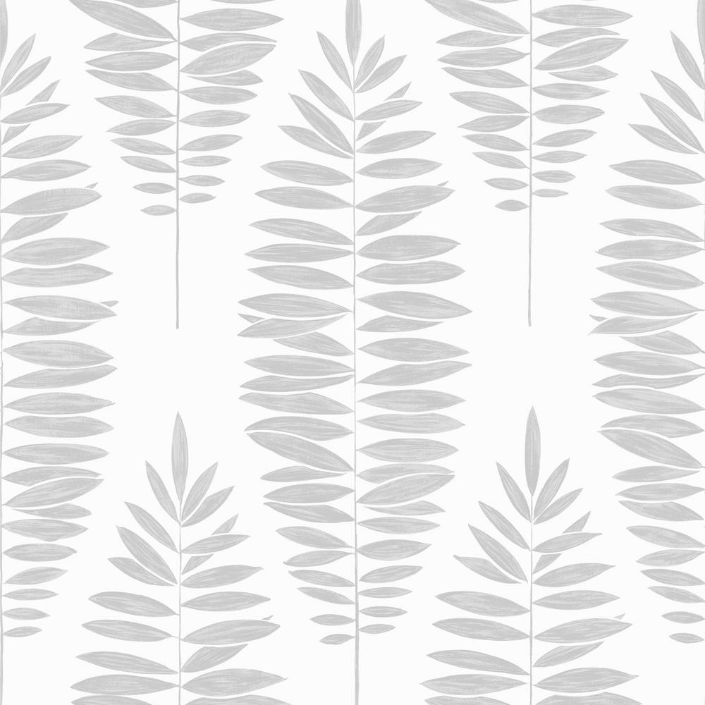Lucia White and Silver Removable Wallpaper