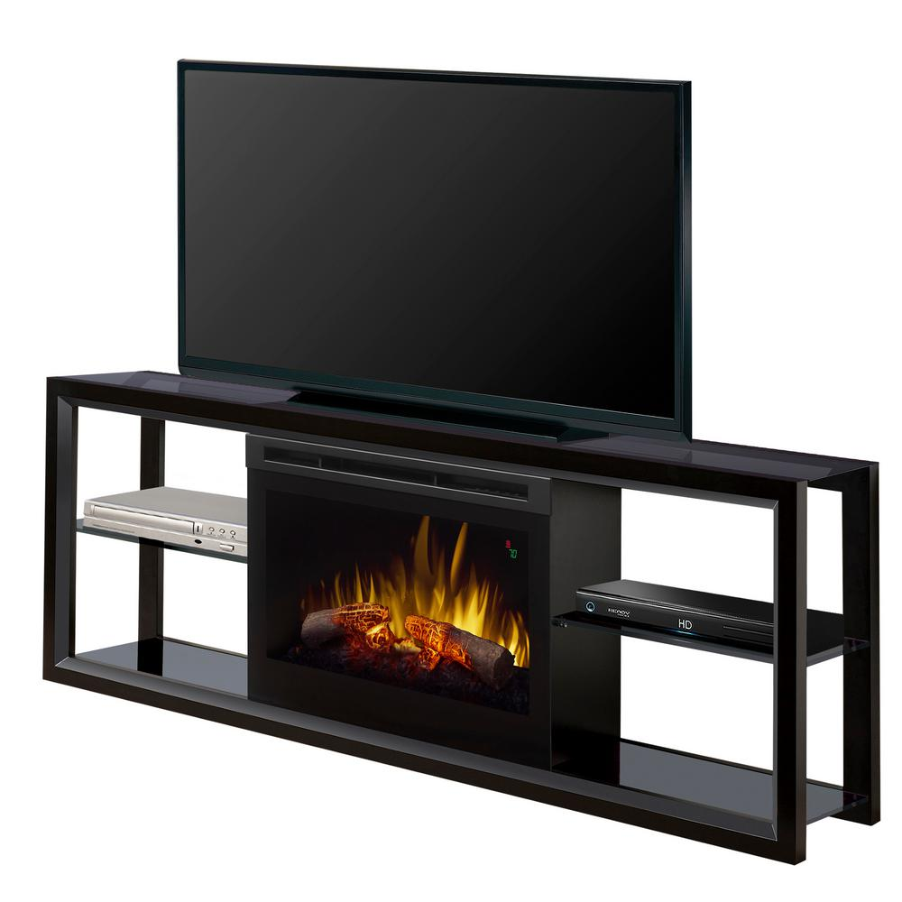 "Novara 64"" Freestanding Electric Media Console in Black"