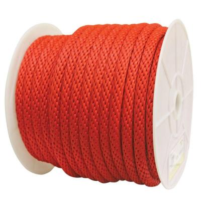 5/8 in. x 140 ft. Solid Braided Poly Rope Red