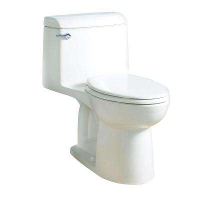 Champion Four 1-piece 1.6 GPF Single Flush Elongated Toilet in White, Seat Included
