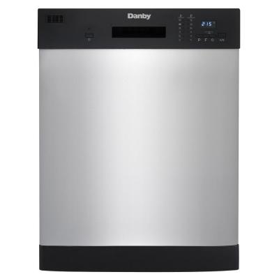 24 in. Front Control Dishwasher in Stainless Steel 52 dBA