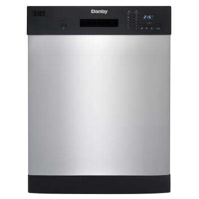 24 in. Front Control Dishwasher in Stainless Steel, 52 dBA