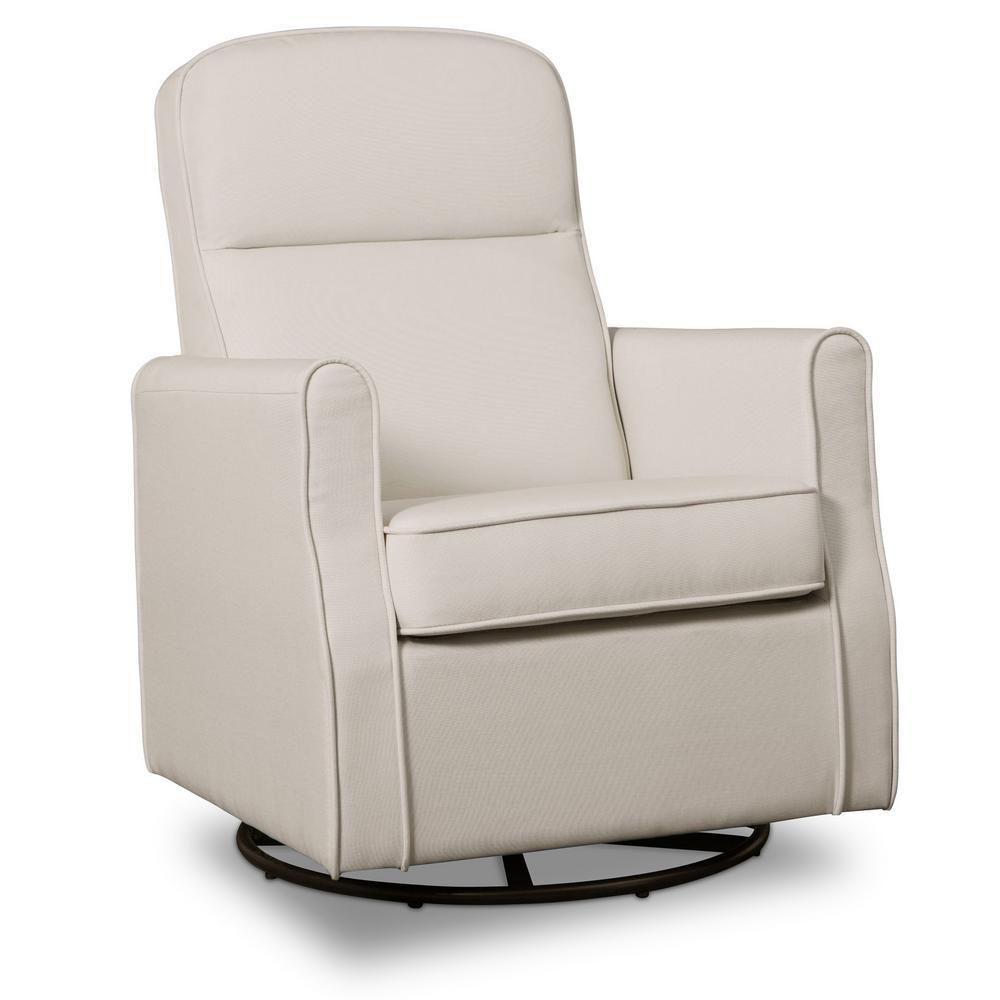 Delta Children Ivory Blair Glider Swivel Rocker Chair Cream