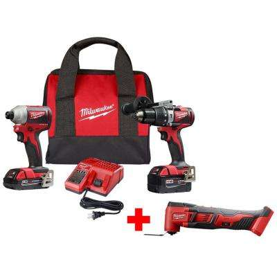 M18 18-Volt Lithium-Ion Brushless Cordless Hammer Drill and Impact Combo Kit w/ Free M18 Oscillating Multi-Tool