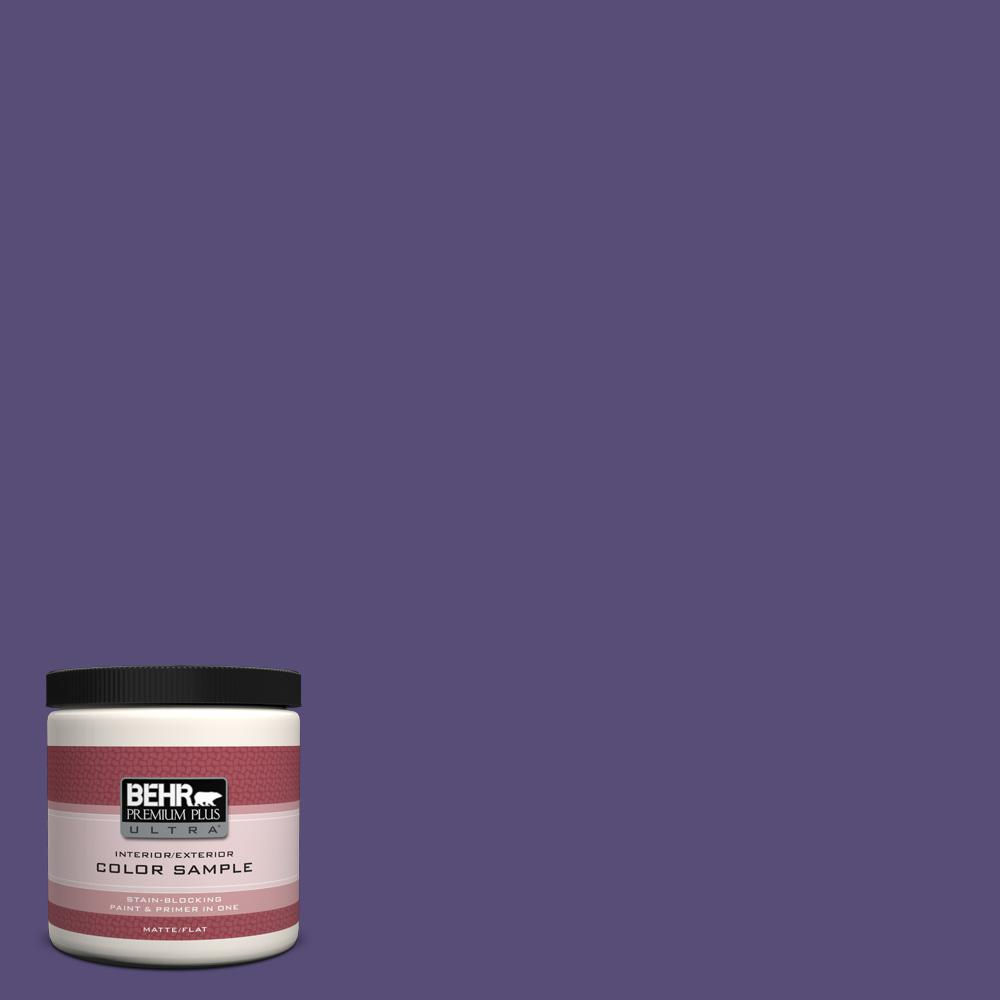 Behr premium plus ultra 8 oz mq5 42 perpetual purple matte interior exterior paint and primer for Behr exterior paint with primer reviews