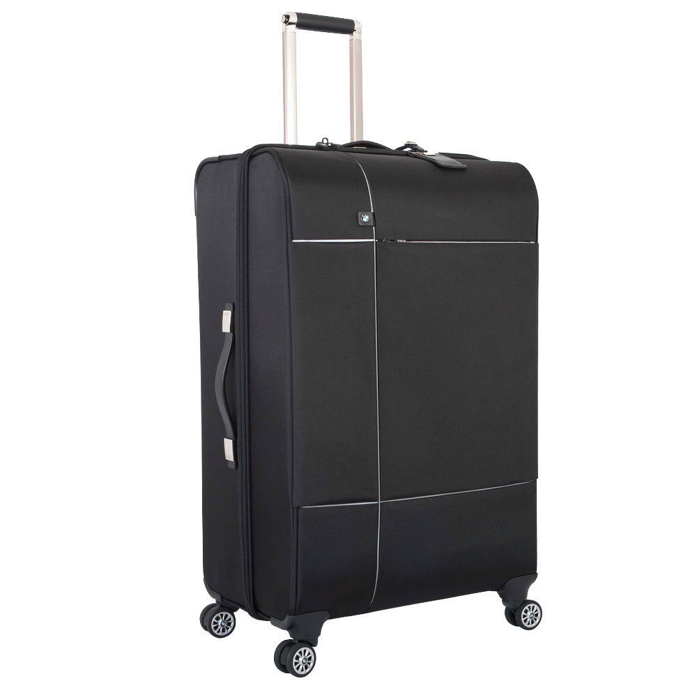 29 in. Black Split Case Spinner Suitcase