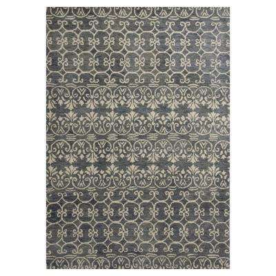 Perfect Pattern Grey/Ivory 3 ft. 3 in. x 5 ft. 3 in. Area Rug