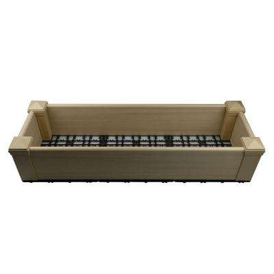 14.4 in. x 43.2 in. Composite Lumber Patio Raised Garden Bed Kit in Japanese Cedar