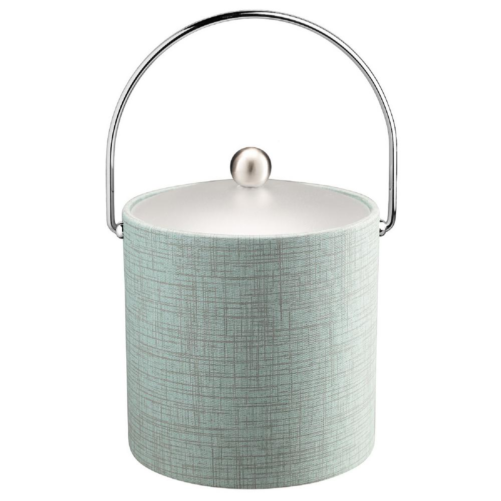 Kraftware Muse Celestial 3 Qt Ice Bucket With Acrylic Lid Bale Handle 53066 The Home Depot