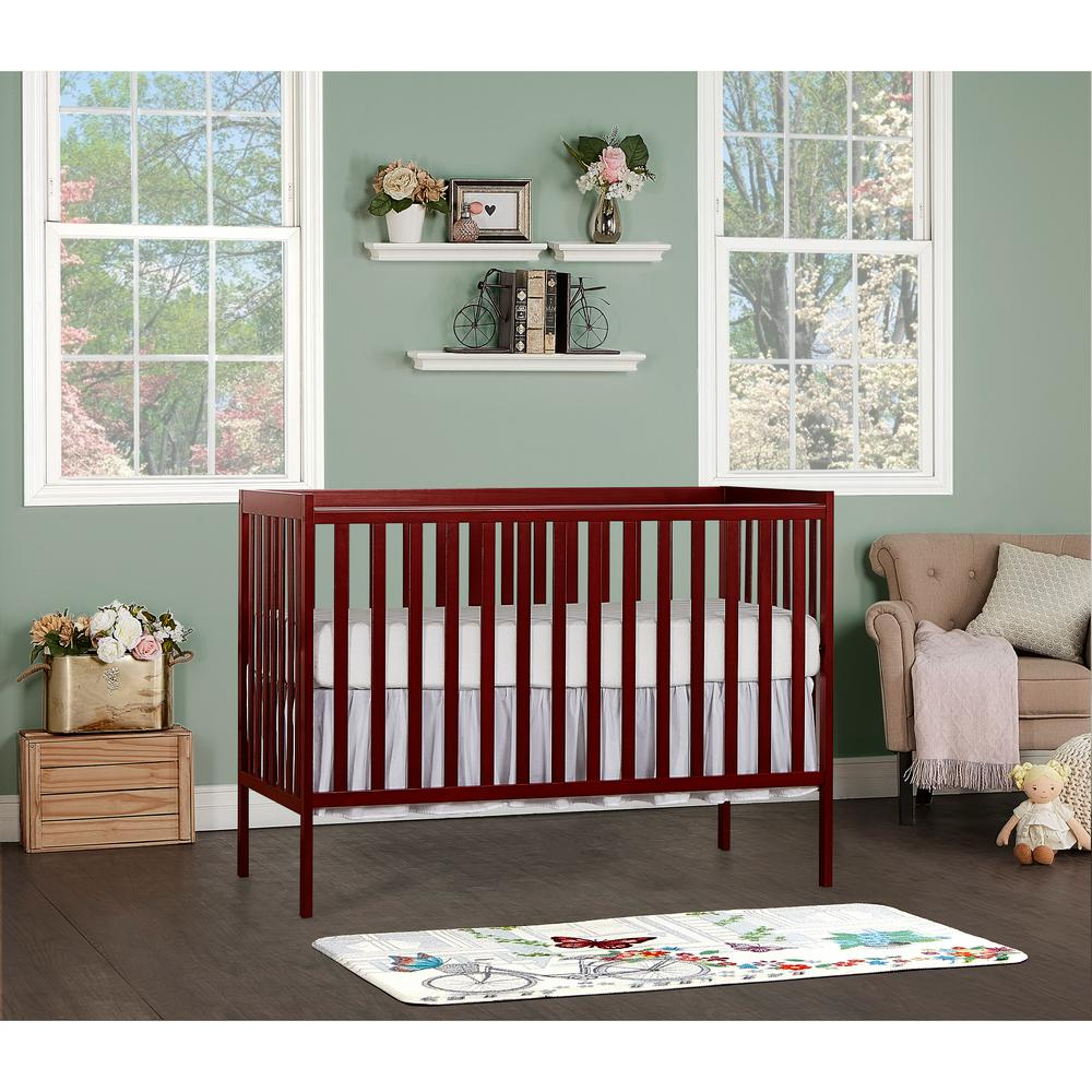 Dream On Me Synergy Cherry 5 In 1 Convertible Crib 657 C The Home Depot