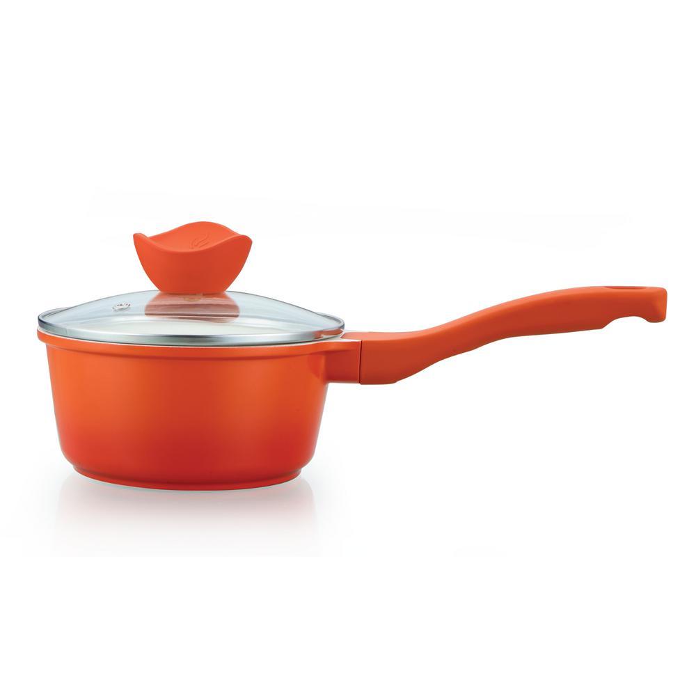 1.5 Qt. Die Cast Aluminum Saucepan in Orange