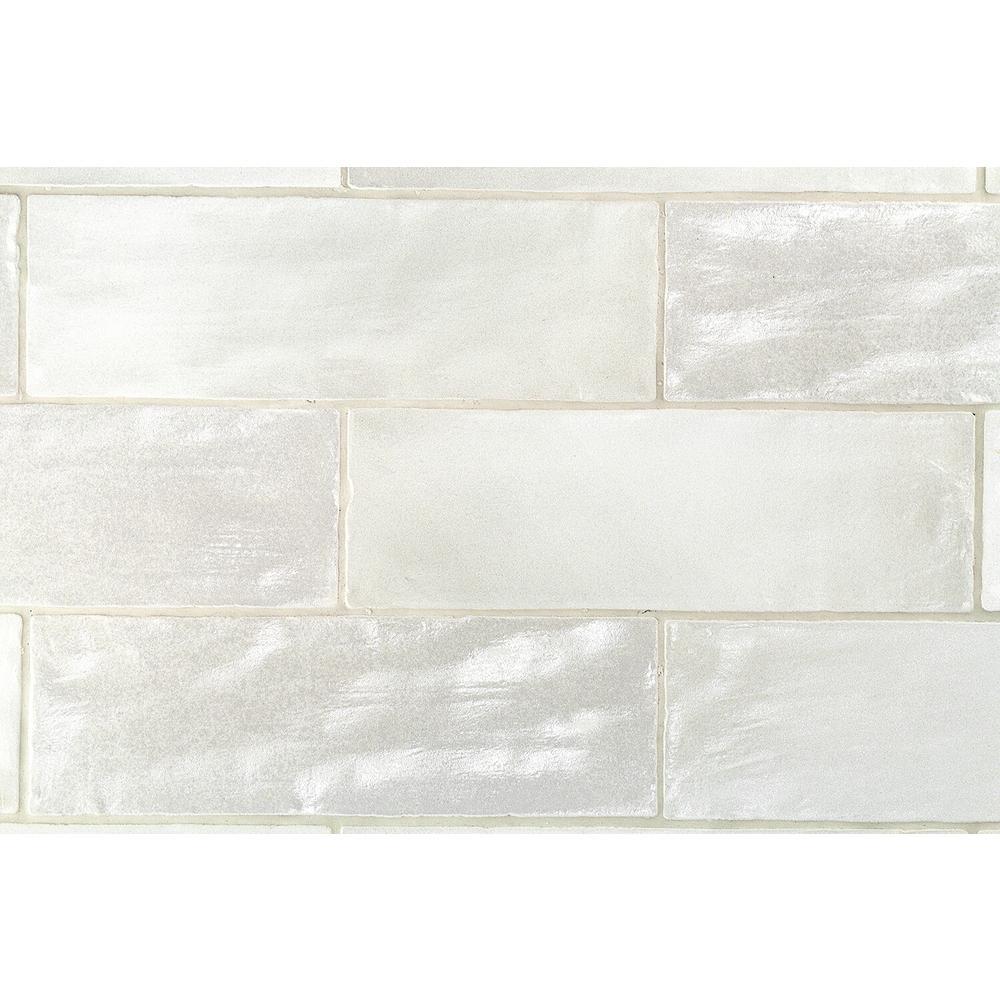 Amagansett Grey 2 in. x 8 in. 9mm Satin Ceramic Wall Tile (10.76 sq. ft. / box)