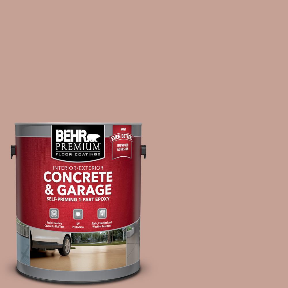 1 gal. #PFC-07 Michel Rose Self-Priming 1-Part Epoxy Satin Interior/Exterior Concrete and Garage Floor Paint