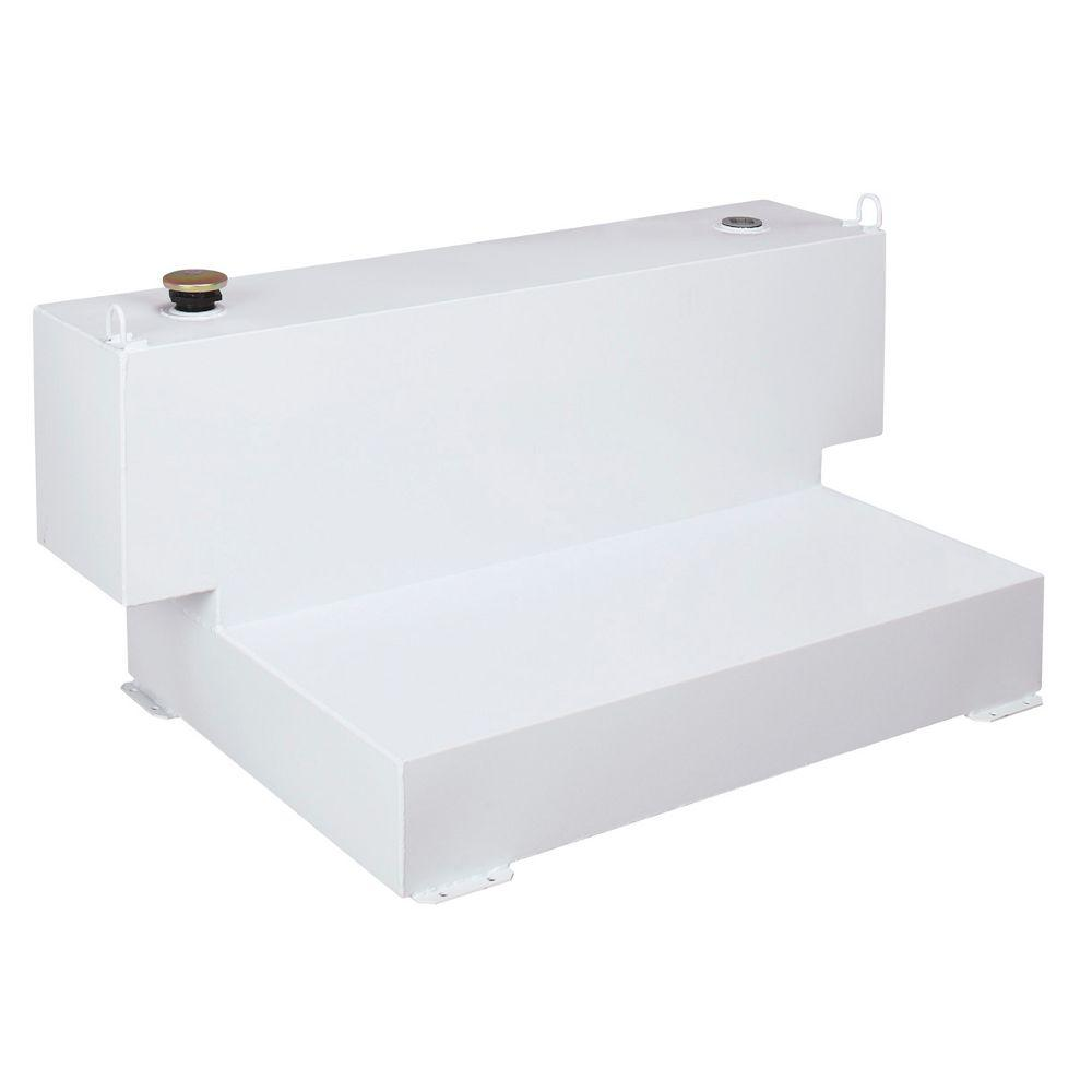 Short-Bed L-Shaped Steel Liquid Transfer Tank in White