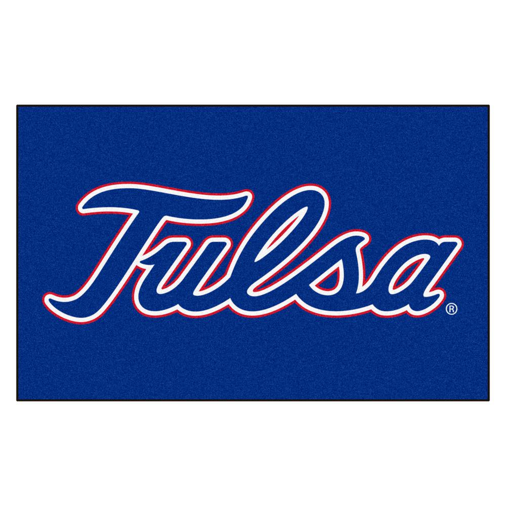 Fanmats Ncaa University Of Tulsa Red 5 Ft X 8 Ft Area