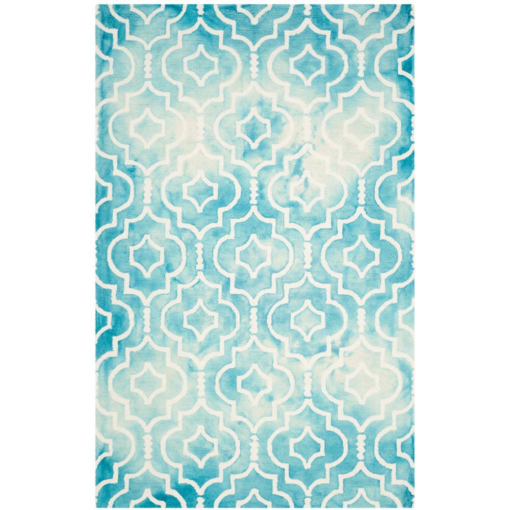 Safavieh Dip Dye Gray Turquoise Area Rug Reviews: Safavieh Dip Dye Turquoise/Ivory 4 Ft. X 6 Ft. Area Rug