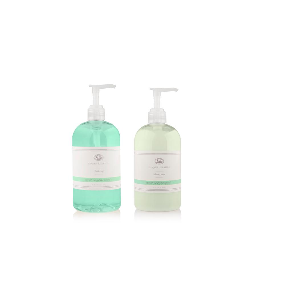 Kitchen Essentials 16 oz. Sage/Eucalyptus Hand Soap and Lotion Set
