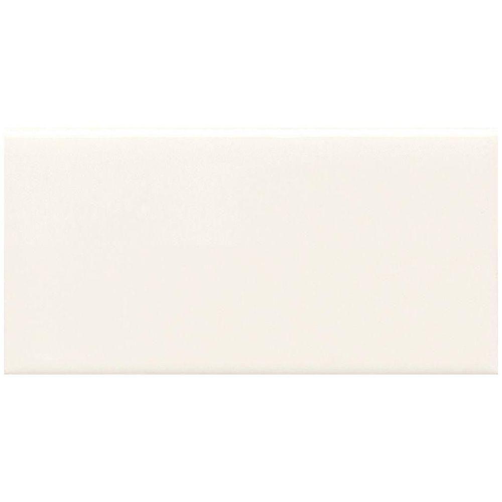 Daltile Rittenhouse Square White 3 In X 6 Ceramic Bullnose Wall Tile 0 125 Sq Ft Piece