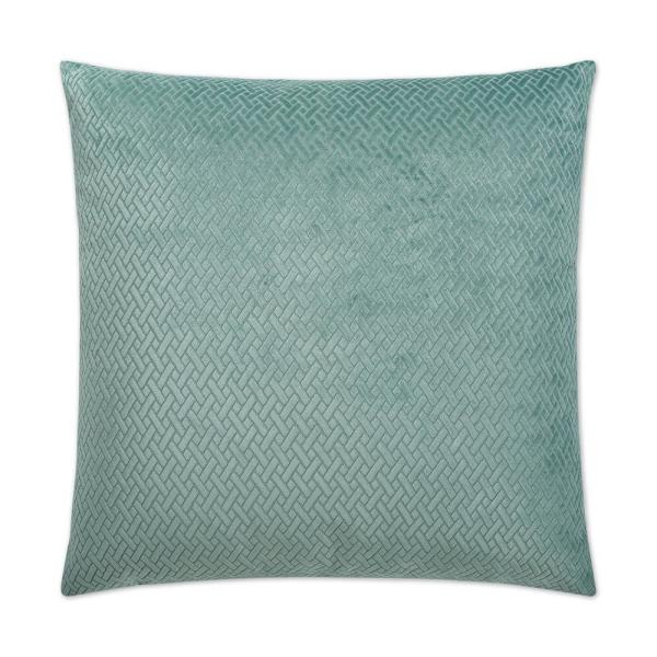 Flex Teal Solid Down 24 in. x 24 in. Throw Pillow